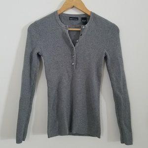 Moda International Cotton Henley Top